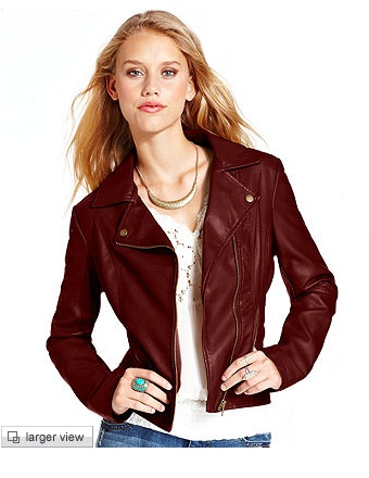 oxblood jacket