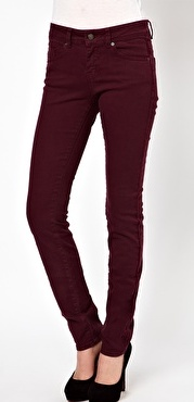 oxblood pants
