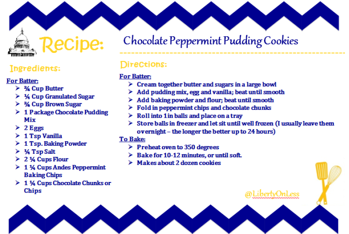 chocolate pepperming pudding
