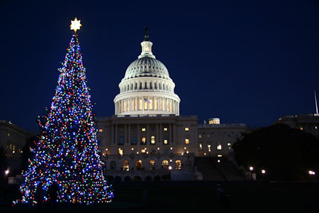 Washington DC Christmas Capitol